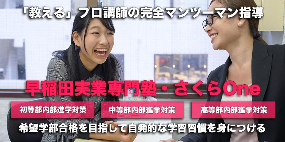 早稲田実業専門塾:「教える」プロ講師の完全マンツーマン指導:希望学部合格を目指して自発的な学習習慣を身につける。